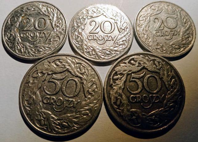 Zestaw 50, 20 gr Polska 1923
