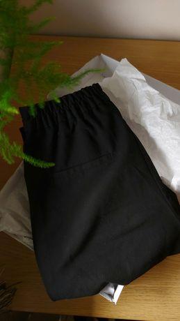 Spodnie materiałowe czarne JAK NOWE