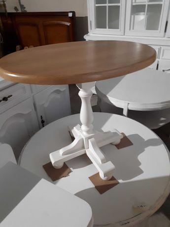 Stolik kawowy drewniany dębowy jasny owalny PO RENOWACJI DOWÓZ