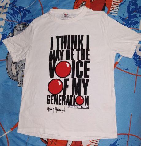 Футболка белая с крутой надписью Классная футболка с надписью «I thin