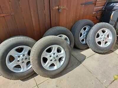 """5 Jantes + pneus de 15"""" (Freelander)"""
