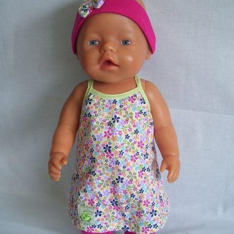 Tunika - komplet dla lali baby Born.