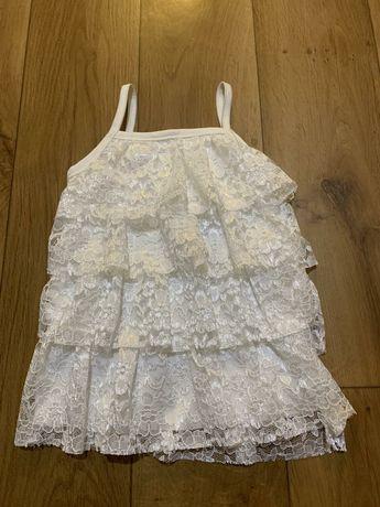 Нежное белоснежное платье для маленьких принцес