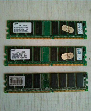 Оперативная память DDR,3 платы на 256 мб.