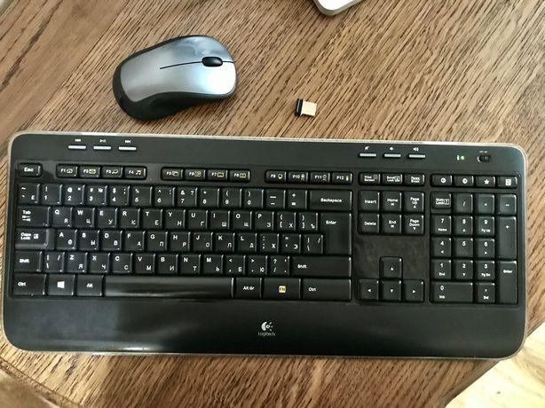 Беспроводная мышка и клавиатура Logitech