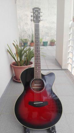 Guitarra eletroacustica yamaha cpx 700 dsr compass series.