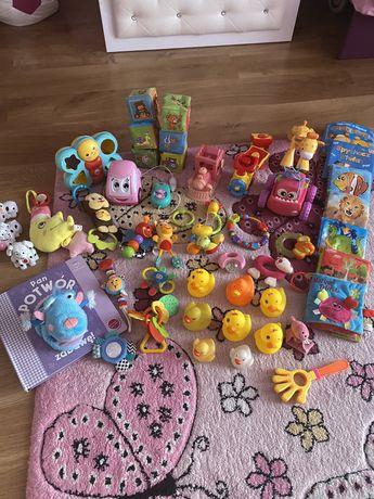 Zabawki , fisher price, kaczuszki, książeczki