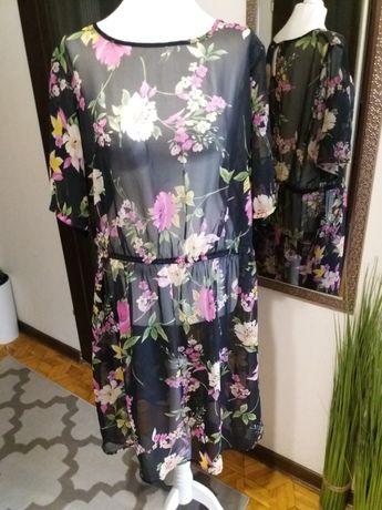 Letnia,  kolorowa sukienka m-ki Asos, r. 50