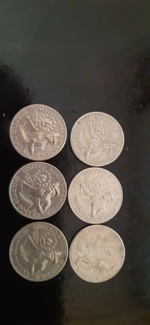 Монета 25 центов США,барабанщик,монетный двор D.