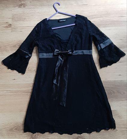 Sexi sukienka czarna koronka L