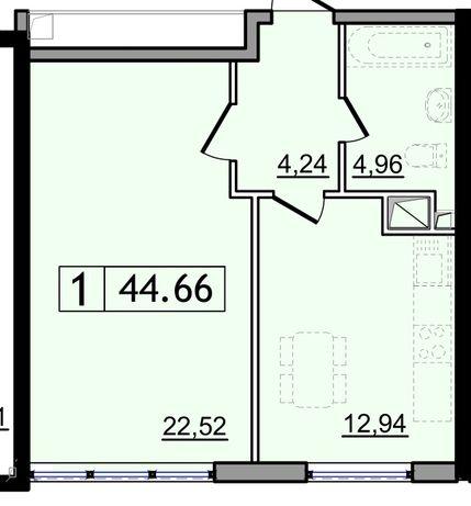 Продам 1 комнатную квартиру 45 м2 в Кадорре на Котовского