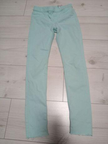 Spodnie H&M 140 turkusowe