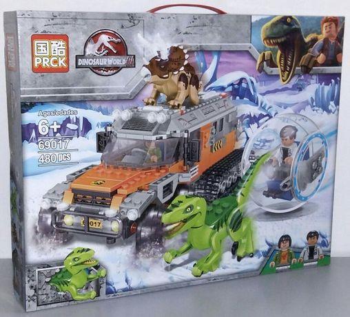 """Конструктор Динозавры 69017 """"Атака динозавров на снегоход"""" 480 дет"""