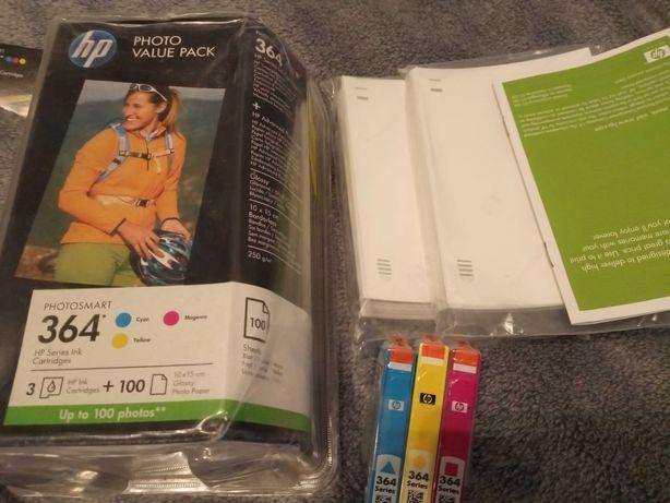 Zestaw tuszy HP 364 plus 100 arkuszy papieru fotograficznego