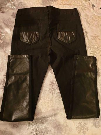Spodnie Gabriela Garcini skórzane, skóra+materiał+futerkowe kieszenie