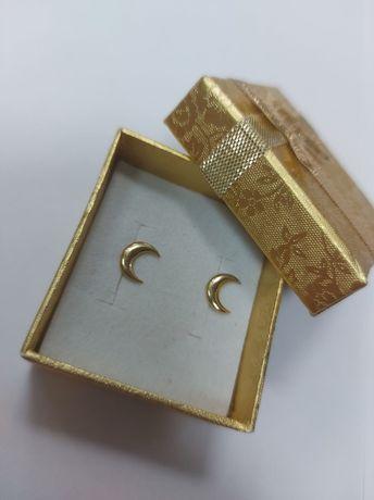 Złote kolczyki w kształcie księżyców, próba 585