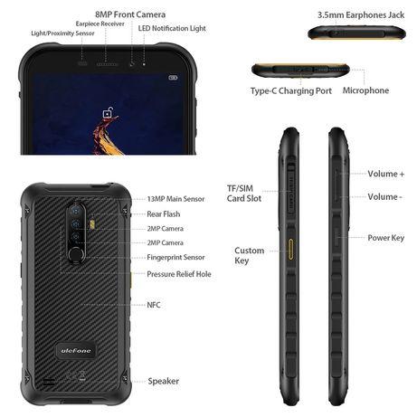 "Защищенный смартфон Ulefone Armor X8 4/64 5.7"" NFC IP68 Global"