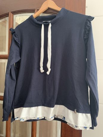 Camisola desportiva azul marinho m