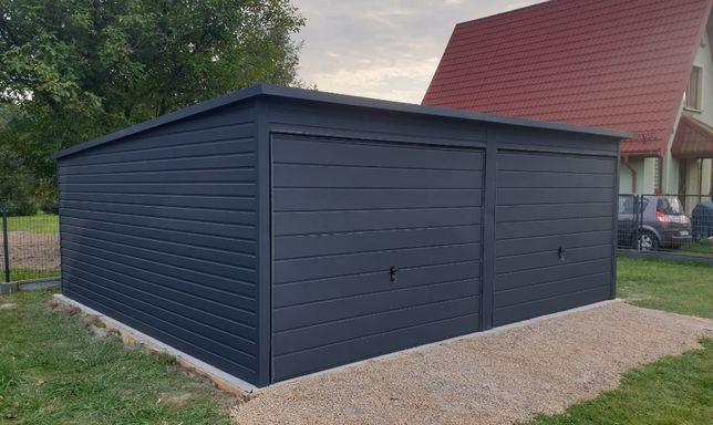 Garaż blaszany Drewnopodobna Blacha Blaszak Poziom PROFIL ZAMKNIĘTY6x5