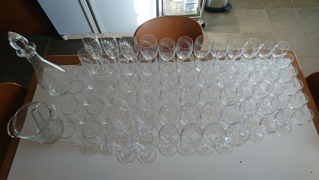 Conjunto 74 peças Fleury Taille Epi da Cristal D'Arques