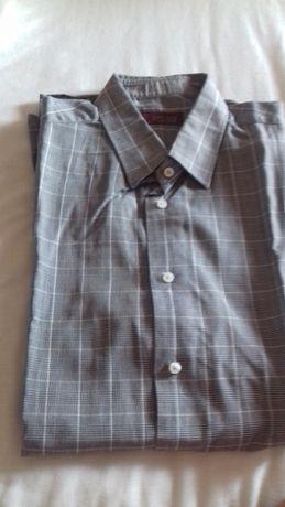 Camisa Zara Man cinzento L