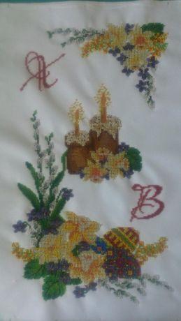 Пасхальный рушнык (вышивка бисером). Пасхальний рушник.