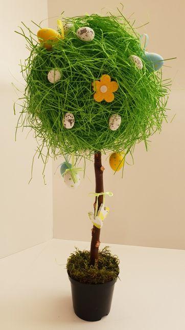 Wielkanocne drzewko dekoracja świąteczna wiosenna ozdoba