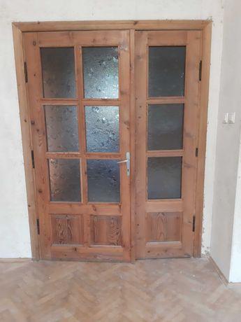 Drzwi sosnowe dwuskrzydłowe