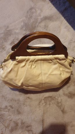 Beżowa torba skórzana - darmowa wysyłka