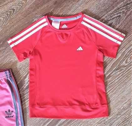 Bluzka różowa Adidas 140