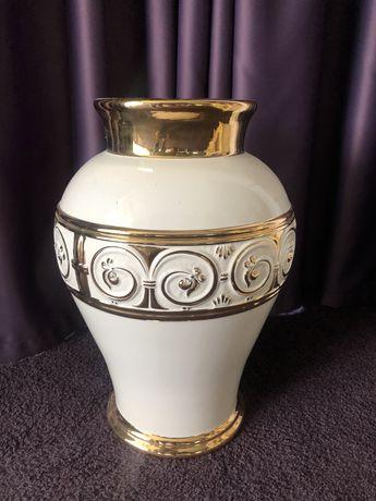 Ваза напольная золотая роспись с камнями Сваровски