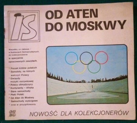 pamiątki PRL- pierwsze zeszyty na naklejki 1979 Od Aten do Moskwy