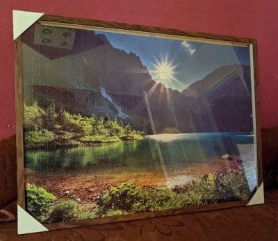 Obraz Morskiego Oka ułożony z puzzli