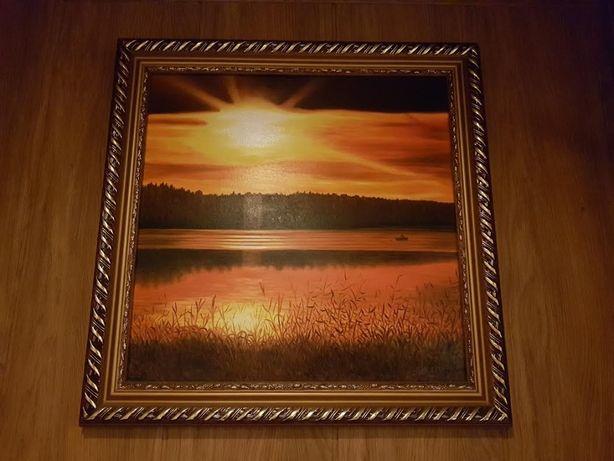 "Картина маслом ""Закат"" 600*600мм"