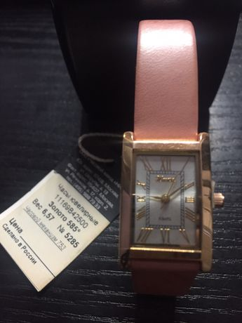 Продам золотые часы бренда «Ника»