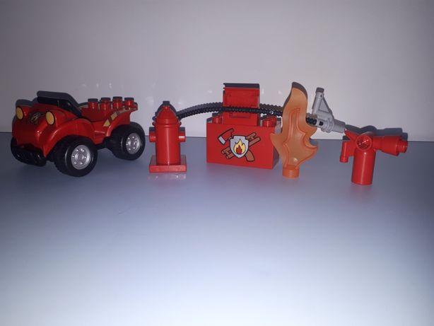 lego duplo quad gaśnica hydrant płomień strażacy atrybuty ogień pożar
