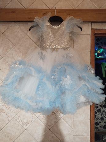 Красивое пышное платье с паетками