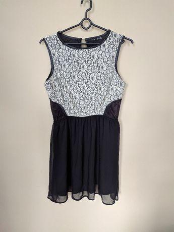 Sukienka Atmosphere 46 xxxl czarna biała