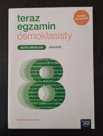 """Arkusze Język angielski """"Teraz egzamin ósmoklasisty""""  Nowa Era"""