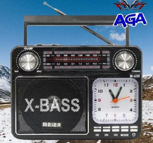 Radio FM Am Sw Meier M-U35 + USB + SD + Latarka + Zegar