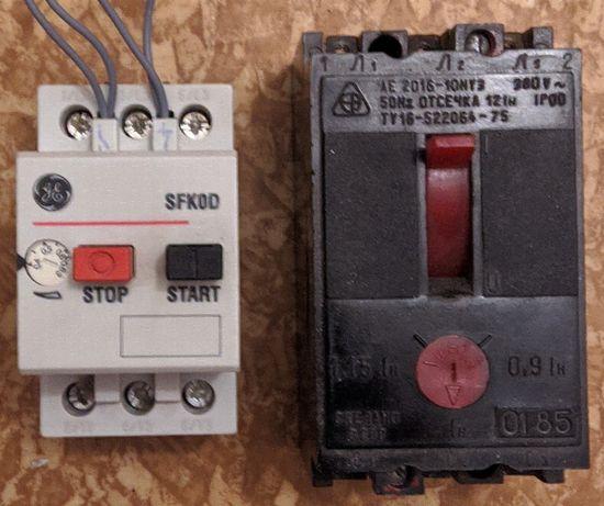 Автоматический выключатель, кнопка-автомат для электр.двигателя до 1А.