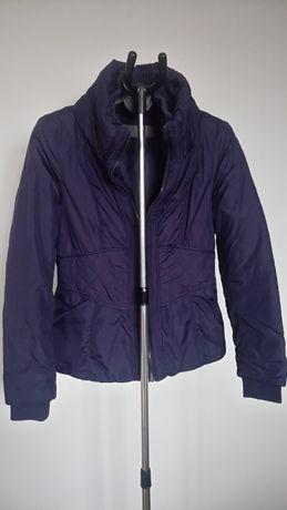 kurtka Zara 38 M taliowana pikowana lekka ciepła granat