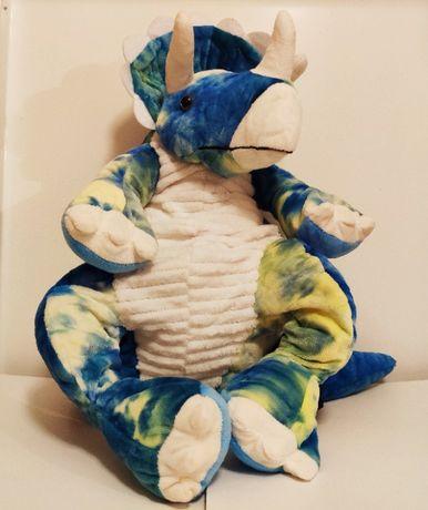Рюкзак динозавр для детей и для взрослых. Синий - Трицератопс.