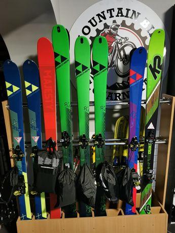 Narty skiturowe Fischer komplety sety