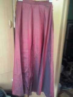 Suknia wieczorowa 2 częściowa bordowa L (40)