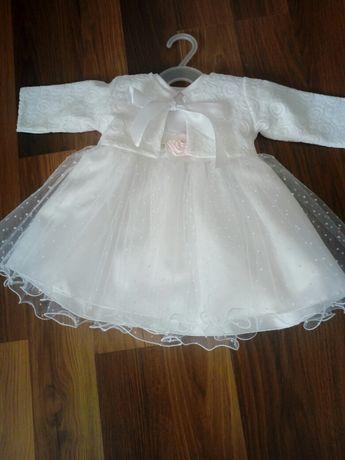 Sukienka z bolerkiem do chrztu