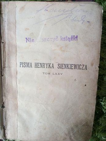 """Książka pt. """"pisma Henryka Sienkiewicza"""""""