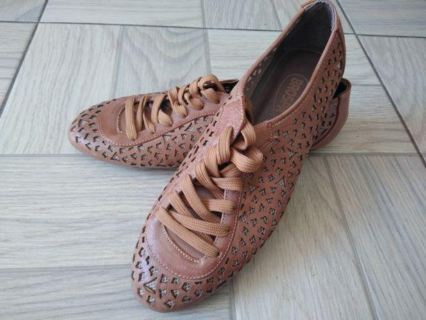 Buty sznurowane damskie 41 ażurowe