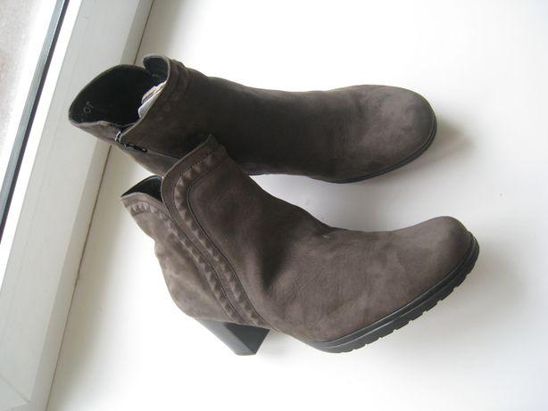 женские кожаные деми ботинки ботильоны Gabor р.39.5 - 25,7см