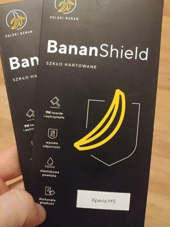2 szt. Xperia M5 Szkło hartowane Banan Shield